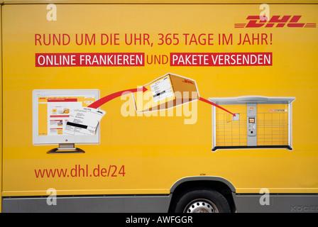 DHL courier van Stock Photo