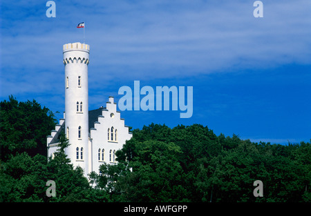 Lietzow Castle, Ruegen Island, Mecklenburg-Western Pomerania, Germany, Europe - Stock Photo