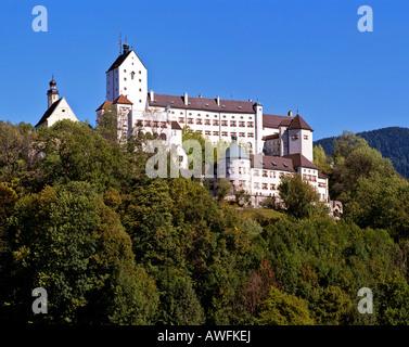 Schloss Hohenaschau (Hohenaschau Castle), Aschau im Chiemgau, Upper Bavaria, Bavaria, Germany, Europe - Stock Photo