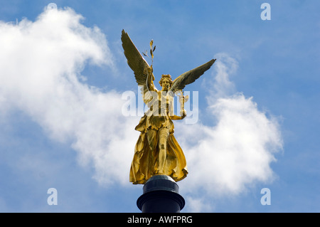 Freedom Angel (Friedensengel) in Munich, Bavaria, Germany, Europe - Stock Photo