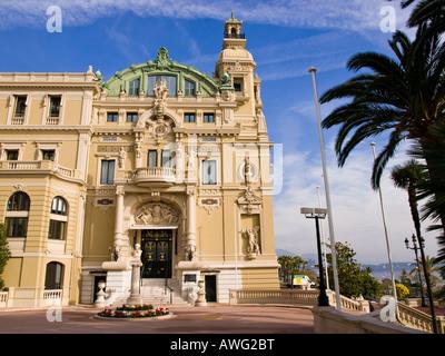 A side view of the Monte Carlo Casino in Monaco. - Stock Photo
