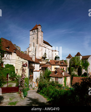 France Dordogne St Cirq Lapopie - Stock Photo