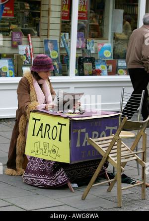 Tarot fortune teller wise woman healer street tourist attraction Brighton Sussex England tourism shore resort relaxing - Stock Photo