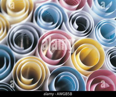 Scrolls of printing papers CMYK - Stock Photo