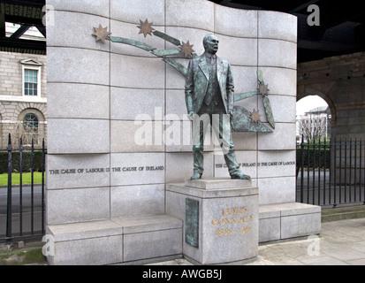 Statue of James Connolly in Dublin, Republic of Ireland. - Stock Photo