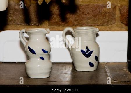 Earthenware jugs - Stock Photo