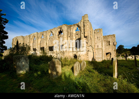 Easby Abbey near Richmond North Yorkshire England - Stock Photo