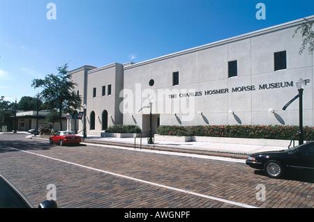 USA, Florida, Orlando, North Park Avenue, Charles Hosmer Morse Museum of American Art - Stock Photo