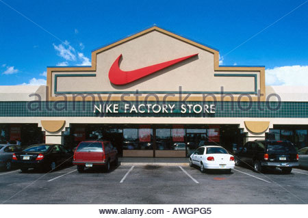 USA Florida Orlando Nike Factory Store Cars In Parking Bays Outside