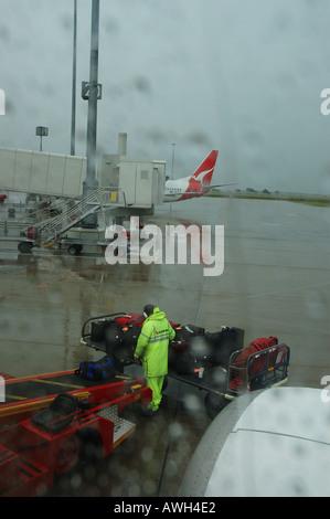 rainy day departure Brisbane Airport Queensland Australia dsc 7361 - Stock Photo