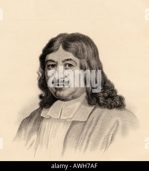 John Bunyan, 1628 - 1688.  English writer and Puritan preacher, author of The Pilgrim's Progress.  From the lithograph - Stock Photo