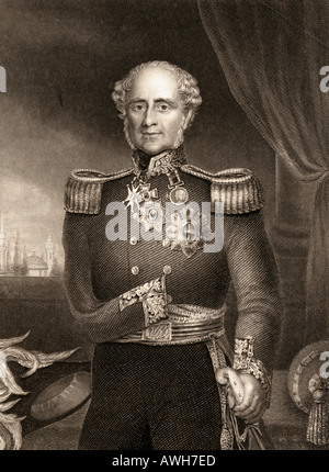 Field Marshal FitzRoy James Henry Somerset, 1st Baron Raglan,  1788 - 1855.  British army officer - Stock Photo