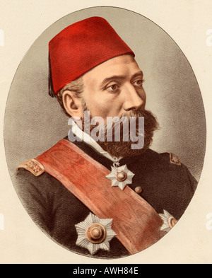 Osman Nuri Pasha or Pasa, aka  Ghazi Osman Pasha, 1832 - 1900.  Ottoman Pasa and field marshal. - Stock Photo