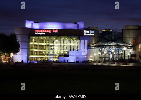 Symphony Hall and ICC International Convention Centre in Centenary Square Birmingham UK - Stock Photo