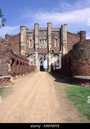 South End Thornton Abbey & gatehouse  ruined Augustinian Priory west facing elevation of gatehouse - Stock Photo