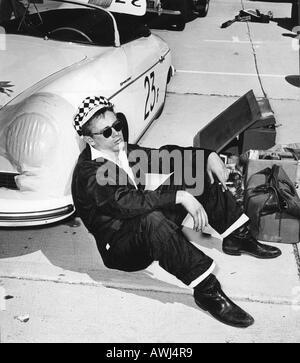 james dean with his porsche 550 spyder speedster at a california car rally about 1954 he