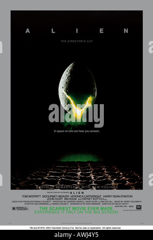 ALIEN   poster artwork for the 1979 TCF/Brandywine film - Stock Photo