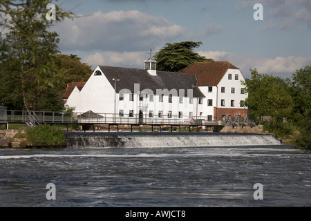 Hambleden Mill with weather vain on Hambleden lock wier near Henley on Thames - Stock Photo