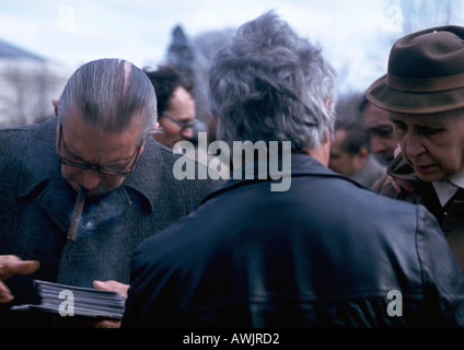 Crowd of men, close-up - Stock Photo