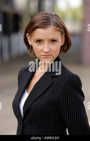 portrait of a working woman - Stock Photo