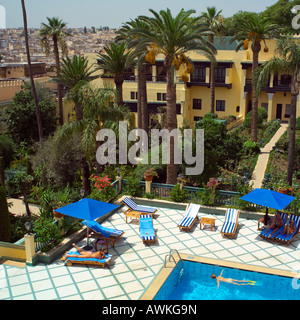 Sofitel Hotel Gardens And Pool In Sipopo Near The Capital City Of Stock Photo Royalty Free