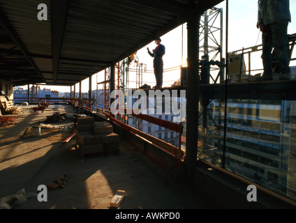Two people in construction site - Stock Photo