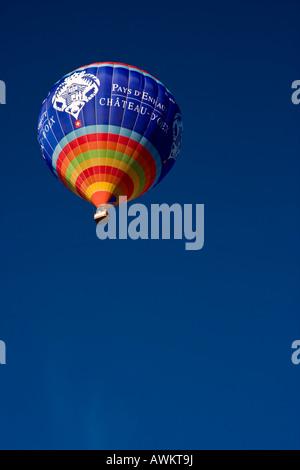 Chateau d'Oex International Balloons Festival Switzerland - Stock Photo