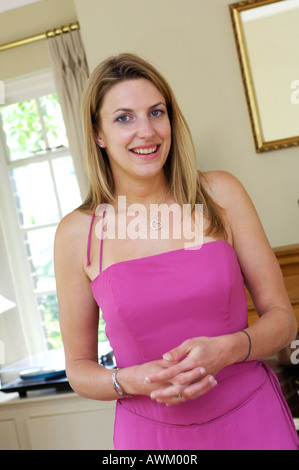 Bridesmaid getting ready - Stock Photo