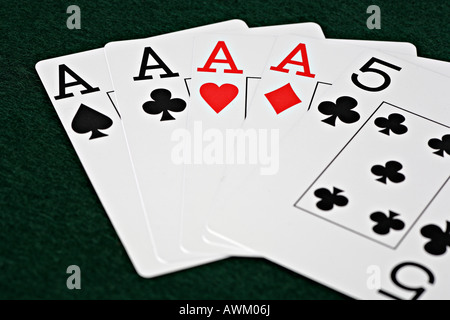 Cards, poker game - Stock Photo