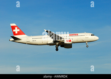Airbus A320-214 from the Swiss International Air Lines AG - Stock Photo