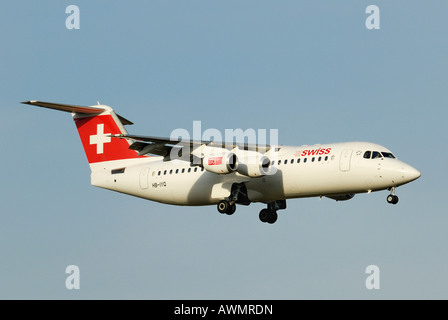 Avro Regional Jet RJ 100 from the Swiss International Air Lines AG - Stock Photo