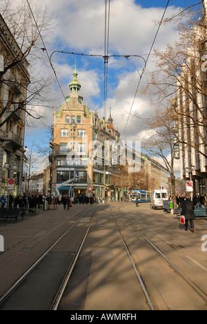 Zuerich - Bahnhofstrasse - Switzerland, Europe. - Stock Photo
