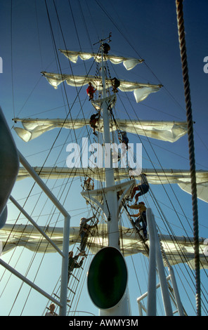 Setting sail on the three-mast sailing ship Amorina (press conference), Red Sea - Stock Photo