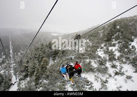 Chairlift, Strbske Pleso, High Tatra Mountains, Slovakia, Europe - Stock Photo