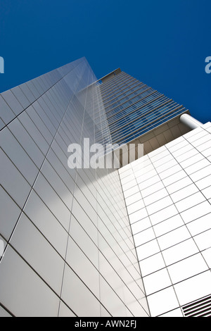 Commerzbank tower, Frankfurt, Hesse, Germany, Europe - Stock Photo