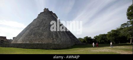 Piramide del Adivino, pyramid of the magician, Maya archeological site Uxmal, Yucatan, Mexico - Stock Photo