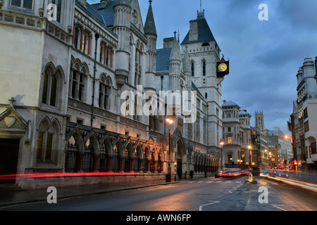 The Royal Courts of Justice on Strand / Fleet Street in the City of Westminster, London, UK - Stock Photo