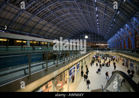 St. Pancras International Train Station, London, UK - Stock Photo