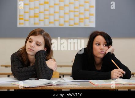 Female pupils / students - Stock Photo