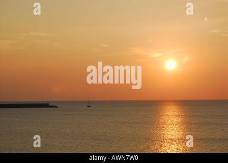 Alghero Sunset, Sardinia - Stock Photo