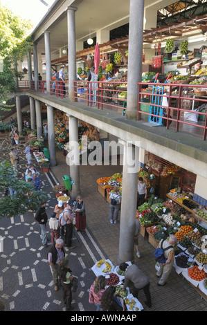 Mercado dos Lavradores, marketplace in Funchal, Madeira, Portugal, Atlantic Ocean - Stock Photo