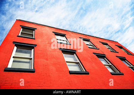 Red building - Stock Photo