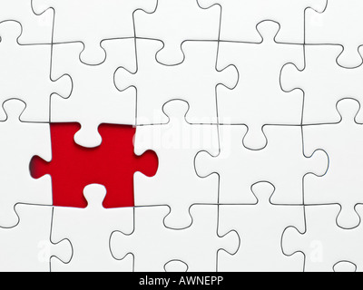 A missing piece from a jigsaw - Stock Photo