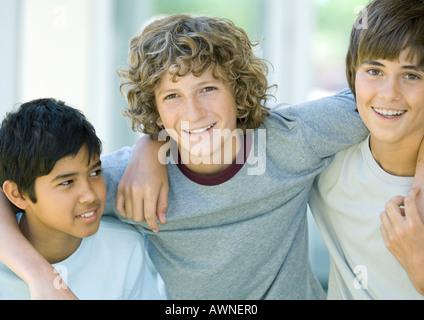 Preteen boys, portrait - Stock Photo