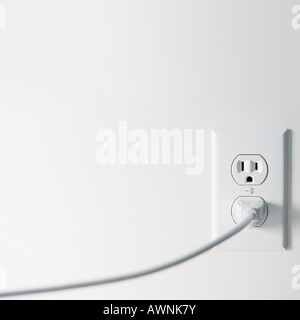 Electric plug and electrical sockets - Stock Photo