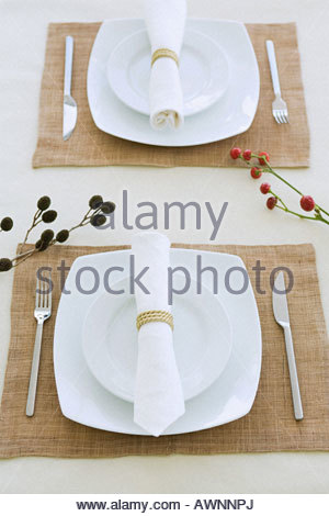Place settings - Stock Photo