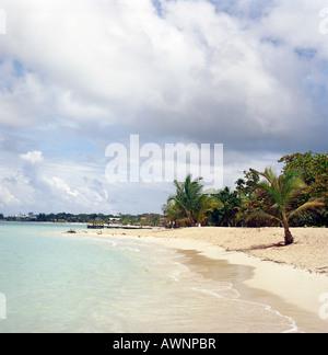 A beach on roatan honduras - Stock Photo