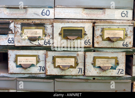 Old filing cabinets - Stock Photo