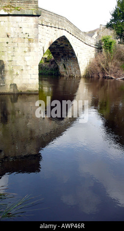 froggatt bridge over the river derwent,derbyshire,uk - Stock Photo