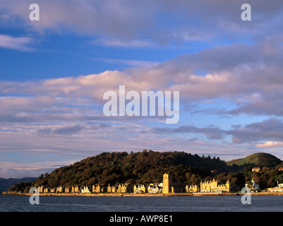 Oban from across the bay in evening light Oban Argyll Bute Scotland UK - Stock Photo